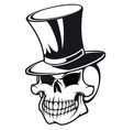 Skull in hat vector