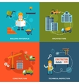 Construction flat icons vector
