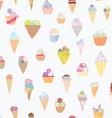 Ice cream seamless pattern funny design vector