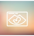 Fetal ultrasound thin line icon vector