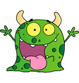 Happy monster cartoon character vector