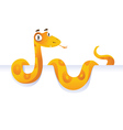 Snake lying down in front of white background vector
