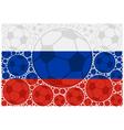 Russia soccer balls vector