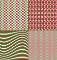 Mod holiday patterns vector