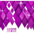 Abstract background of purple diamonds vector