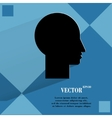 Man silhouette profile picture flat modern web vector