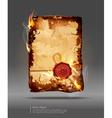 Burning parchment vector