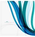 Clean blue wave lines on white vector