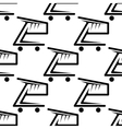 Seamless background pattern of shopping carts vector