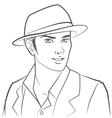 Man wearing hat vector