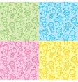 Seamless patterns with kids vector
