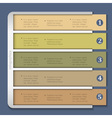 Retro design template for infographics vector