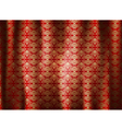 Beautiful pattern curtains abstract background vector