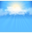 Blue sky abstract background vector