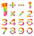Numbers set colorful balloons vector