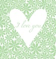 Flowers background with heart vector