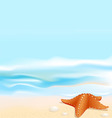Marine landscape vector