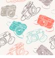 Photo cameras seamless pattern vector