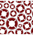 Red rescue circle pattern eps10 vector