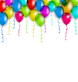 Party decoration with colorful balloons for your vector