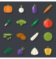 Food icons set vegetables symbols healthy and vector