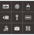 Id card icon set vector