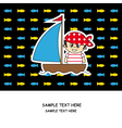 Boy pirate card vector