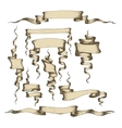 Old banners ribbons and manuscripts vector