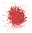 Red watercolor blots vector