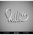 Hello 2013 hand lettering happy new year vector