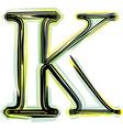Font letter k vector