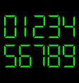 Digital number set vector