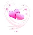 Valentine background wiht hearts vector