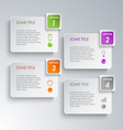 Info graphic options design template vector