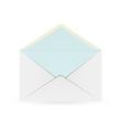 White envelope with blue inner part vector