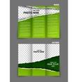 Torn paper tri fold brochure vector