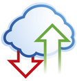 Abstract cloud computing symbol vector