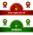 Set of extra virgin olive oil labels - red green vector