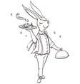 Bunny waiter vector