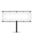 Blank black billboard on white background vector