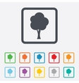 Tree sign icon forest symbol vector