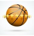 Basketball ball with golden vector