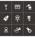 Key icon set vector