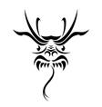Tribal dragon tattoo vector
