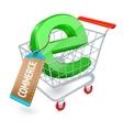 E-commerce shopping cart concept vector