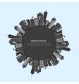 Circle modern city vector