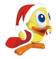 Duck santa klaus vector