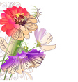 Floral abstract composition vector