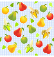 Seamless fruit background vector