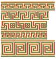 Greek - roman seamless mosaics vector